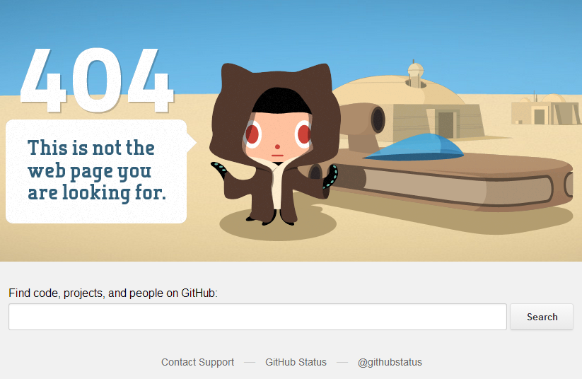 Error 404 en Github
