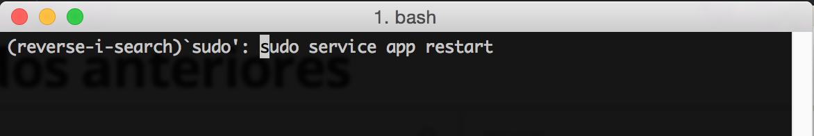 Terminal de Mac OS una vez encontrado el resultado que necesitamos