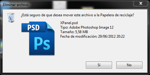 Borrar un archivo en Windows 7